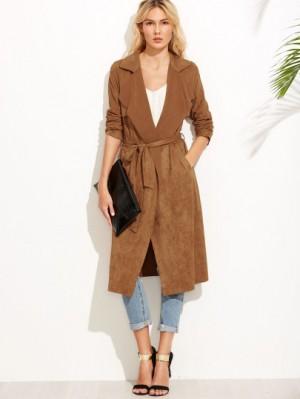 Self tie duster coat