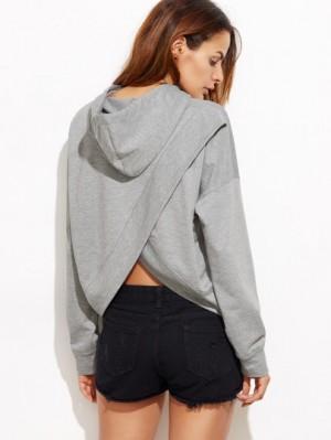 Split back hoodie